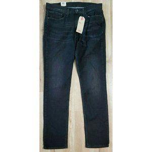 Levi's Mens 511 Slim Stretch Black Jeans Size 34
